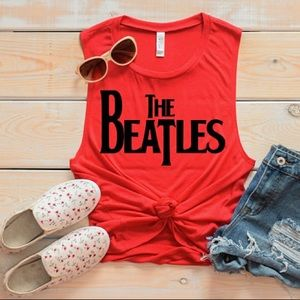 Pop Art Music Tank Top - Beatles - NEW NWT